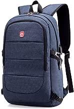 Unisex With USB Charging Port School Travel Backpack,Laptop Backpack Travel Backpack, Breathable Wear-resistant Burden-reducing (Color : Blue)