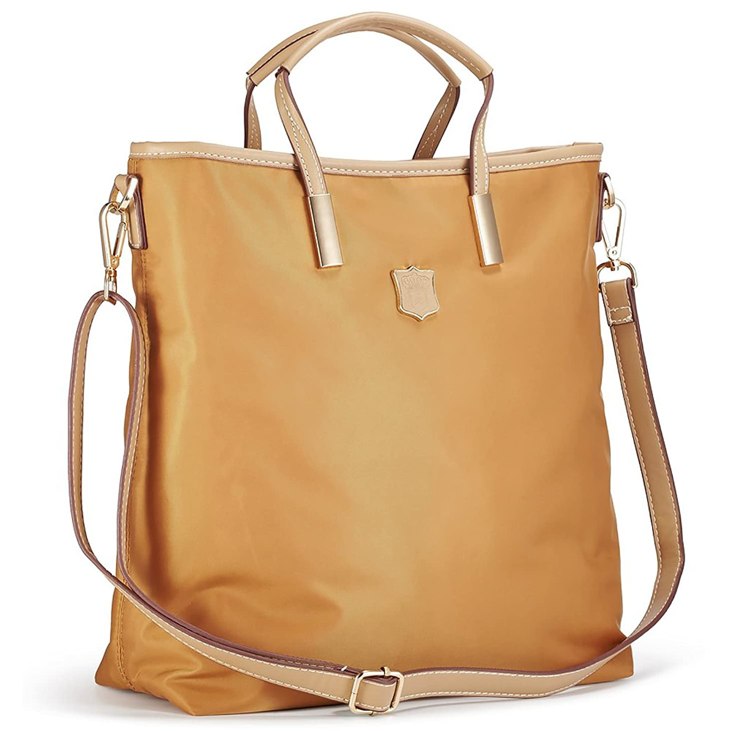 Lecxci Women's Oxford Nylon Large Capacity Waterproof Tote Bag Satchel Multi-pocket Shoulder Travel Bags for Women