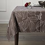 Lamberia Tablecloth Heavyweight Vintage Burlap Cotton Tablecloths for Rectangle Tables (52'x 70',...