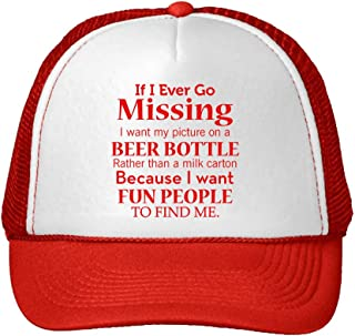 I Ever Missing I Want My Picture On Beer Bottle Than Milk Carton Snaps One Size