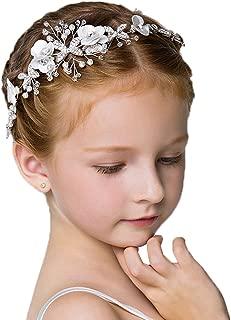 CIKAONUU Headdress Flowers Rhinestones Beading Beautiful Girls Hair Accessories