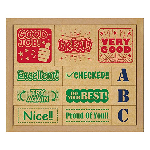 ビバリー スタンプ 木製英語評価印セット SOH-006
