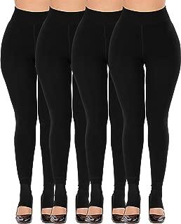 CHRLEISURE Women's Winter Thick Velvet Leggings Warm Solid Color Elastic Pants