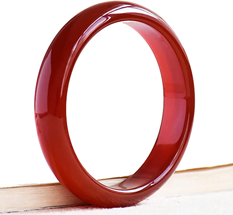 NC Red Jade Bangle Bracelets Red Agate Bracelet Ice Red Chalcedony Jade Bracelet Lady Gift Inner 56-62mm