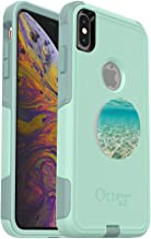 OtterBox Commuter Series Case for iPhone Xs Max – (Teal) + PopSockets PopGrip: Collapsible Grip & Stand for Phones and Tablets – (Color Burst Gloss) (Renewed)