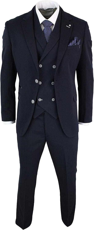 Men's Year-end annual Regular dealer account 1920s Vintage Style Navy Blue Fit Notch Wedding Slim Groom