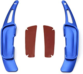 iJDMTOY Blue Aluminum Steering Wheel Paddle Shifter Extension Covers For Mazda 3 6 CX-3 CX-5 CX-9 MX-5