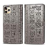 Jacquelyn Étui Portefeuille Compatible pour iPhone 12 Pro Max, étui de Protection en Cuir PU avec...