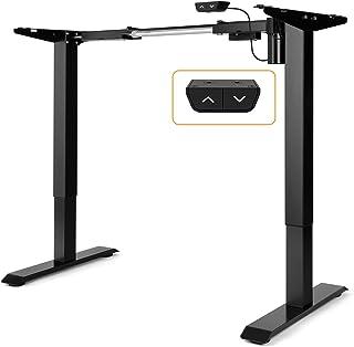 ErGear Electric Stand Up Desk Frame, Height & Width Adjustable Customized Ergonomic Sit-Standing Workstation Base, Motoriz...