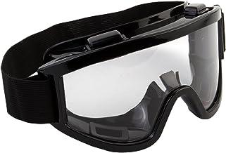7Trees Adult Motorbike ATV / Dirt Bike Racing Transparent Goggles With Adjustable Strap - Black