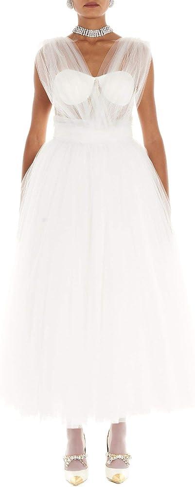 Dolce & gabbana luxury fashion,vestito bianco per donna,100% poliammide F6G4VTHLM0UW0001