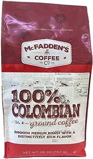 McFadden's 100% Colombian, 28 Ounce Ground Coffee, Smooth Light Medium Roast with a Distinctively Rich Flavor
