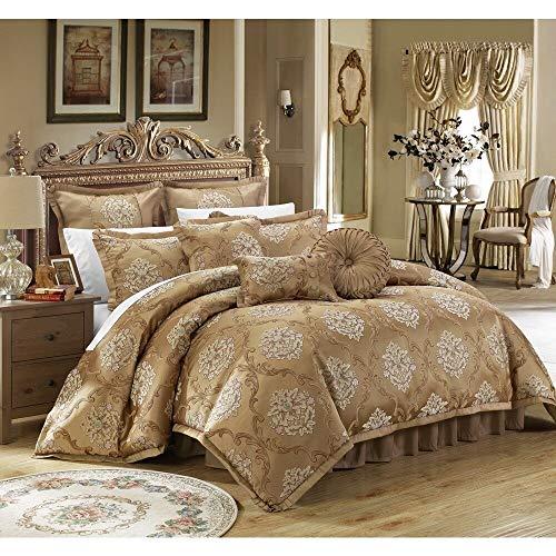 Chic Home Antonio Gold Jacquard 9-Piece Comforter Set King