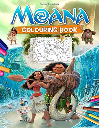 Moana Colouring Book: Moana Awesome Colouring Book For Kids Ages 4-8 With Exclusive Images