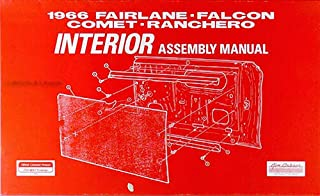 1966 Ford Interior Parts Assembly Instruction Manual For 66 Torino Falcon Fairlane Ranchero Futura GT
