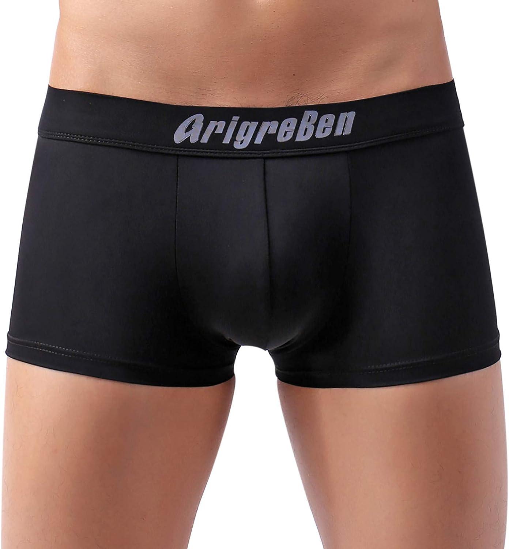 Mens Swim Boxer Briefs Swimwear Quick Dry Boardshort Square Leg Swimsuits Swimwear