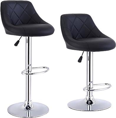 Strange Amazon Com Bar Stools Counter Height Adjustable Bar Chairs Uwap Interior Chair Design Uwaporg