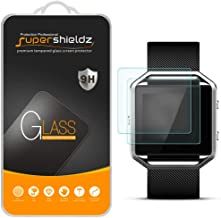 Supershieldz (2 Pack) for Fitbit Blaze Tempered Glass Screen Protector, (Full Screen..