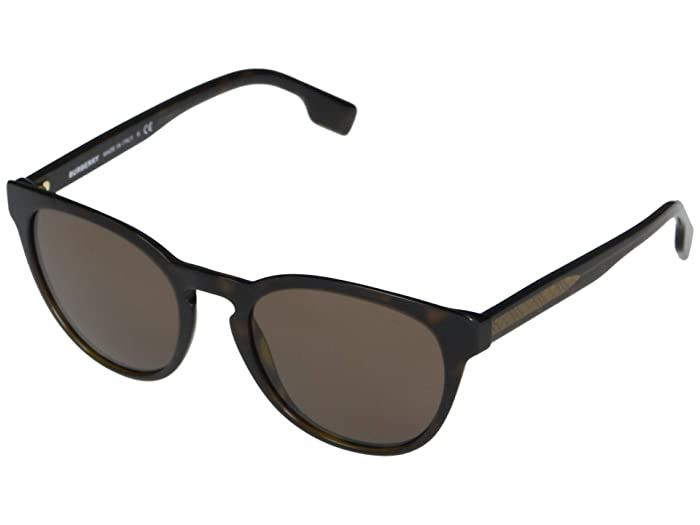 Burberry  0BE4310 (Top Transparent Grey/Dark Havana/Brown) Fashion Sunglasses