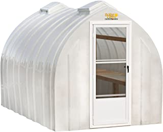 Solar Gem 8' x 15' Large, Fully Assembled, Heavy Duty, Walk-In Fiberglass Greenhouse