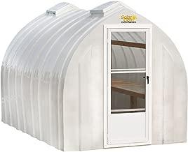 Solar Gem 8' x 15' Large, Fully Assembled, Heavy Duty, Walk-In Fiberglass Greenhouse