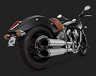Vance & Hines 15-16 Indian Scout Twin Slash Rounds Slip-On Exhaust (Chrome / 4
