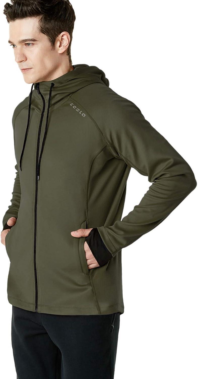 TSLA Men's Full Zip Up Hoodie Jacket, Long Sleeve Performance Training Hoodie, Lightweight Workout Running Track Jackets : Sports & Outdoors