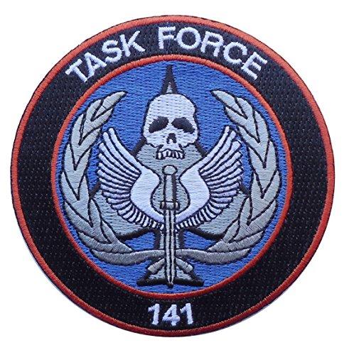 Call of Duty Modern Warfare Task Force 141 Logo 3.5 inch Hook PATCH (TSK1)
