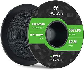 Abma Cord 2mm Paracord Schnüre 100% Nylon Seil mit 1 Strängen Type I Fallschirmschnur