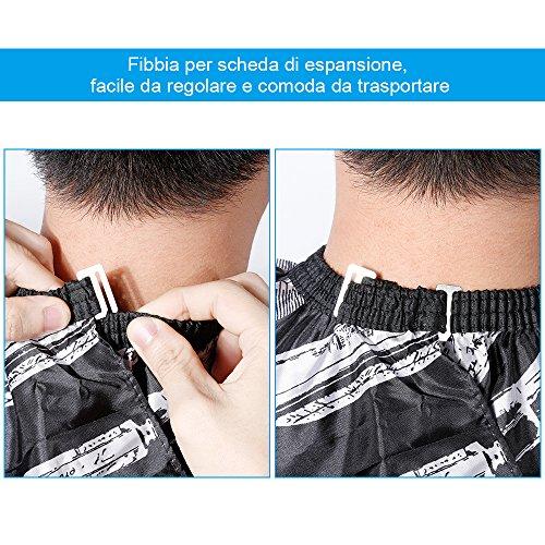 Lictin Mantella Parrucchiere Mantellina Parrucchiera - Telo Parrucchiera per Mantella Taglio Capelli,Con un Pennello