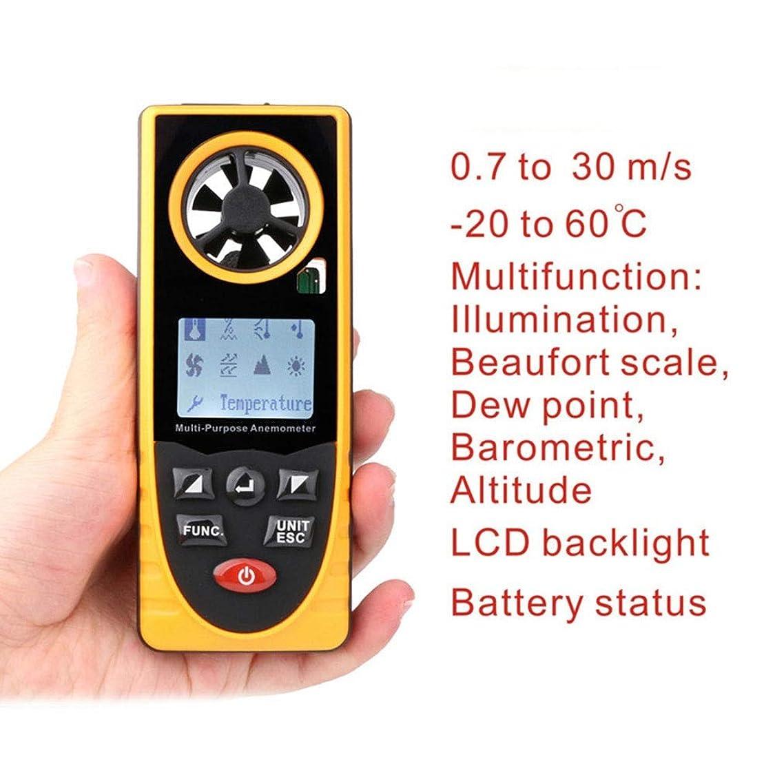 時計回り不当カストディアンLilyAngel 多機能デジタル風速計ハンドヘルド風速計高精度ポータブル風速計 (色 : As picture)