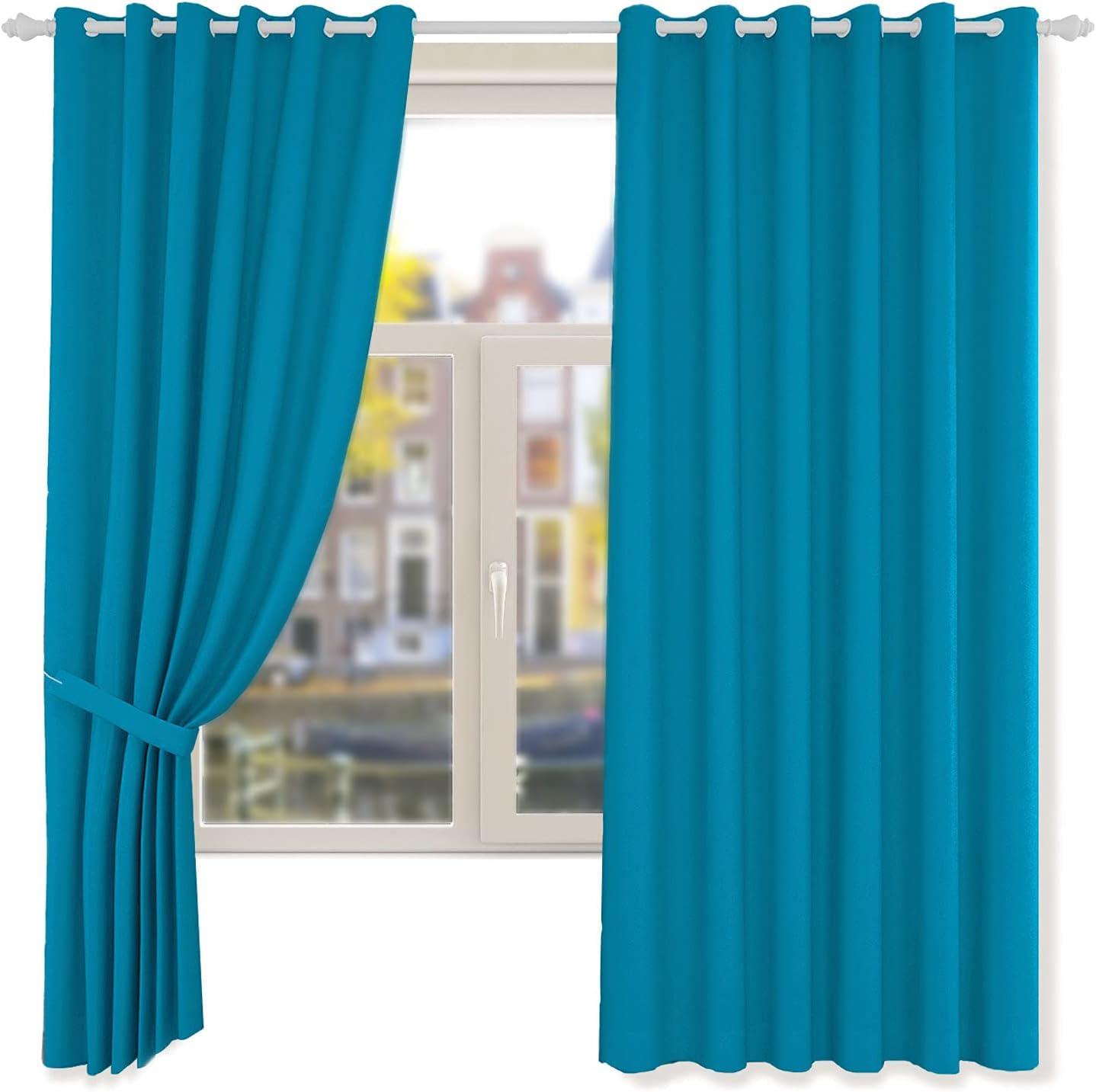 ANUWAA Blackout 奉呈 Curtains セール 特集 63 inch Length Ou Linen Black 2 Panels