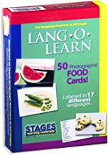 Stages Learning Materials Lang-O-Learn ESL Food Vocabulary Photo Cards Flashcards for English, Spanish, French, German, Italian, Chinese, Korean +More