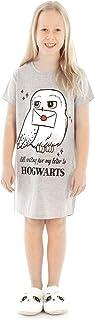 Grey algodón Vestido de la Noche Pijama de Harry Potter Hogwarts de Hedwig Chica