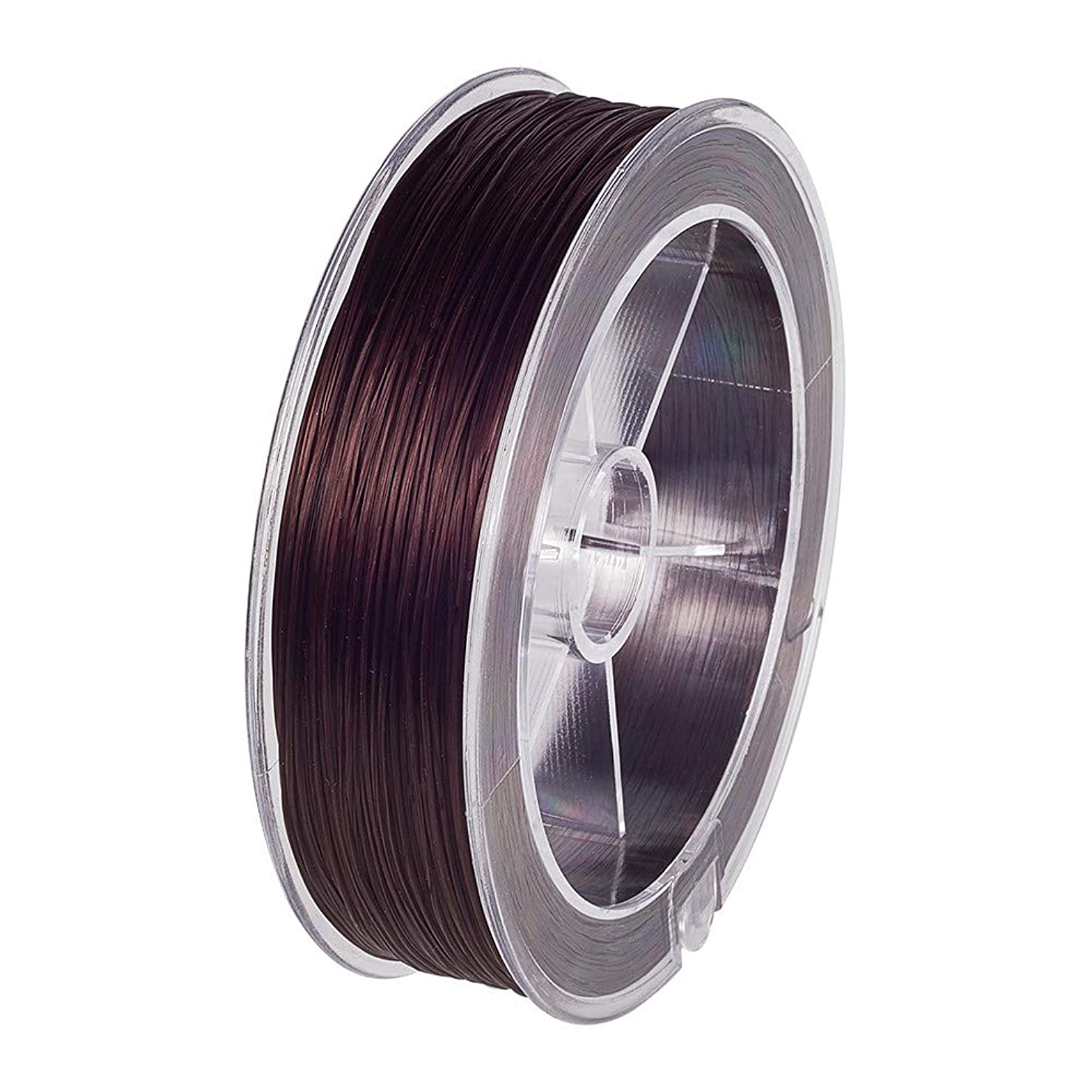 BENECREAT 100m 0.8mm Elastic Stretch Fiber Thread for Bead Jewelry Crafts (Coffee)