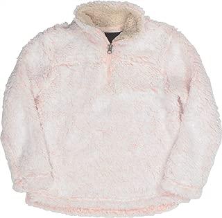 Girls' Pullover Quarter Zip Sherpa Fleece Jacket