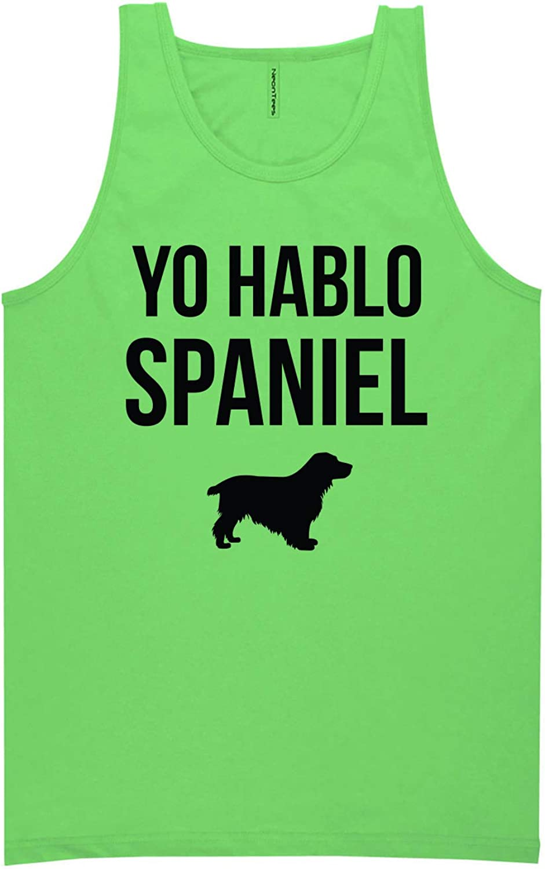 zerogravitee Yo Hablo Spaniel Neon Green Tank Top - XX-Large