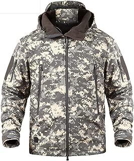 LASIUMIAT Men's Tactical Jacket Winter Softshell Fleece Lined Hunting Hiking Snow Snowboarding Jacket