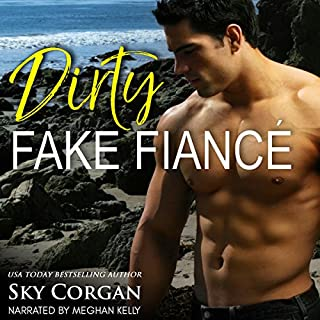 Dirty Fake Fiancé audiobook cover art