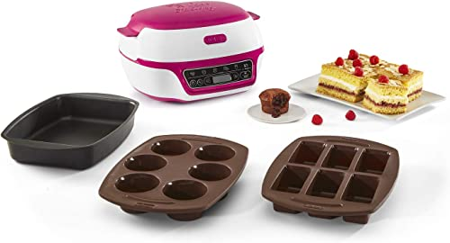 Tefal Cake Factory Machine Intelligente à Gâteaux Appareil, Cuisson Conviviale, Pâtisserie,Machine à pain, Muffins, ...