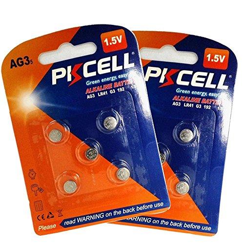 SR41W 392 192 GP192A LR736 LR41 AG3 1,5 V ALKALINE Batterie 10 Stück