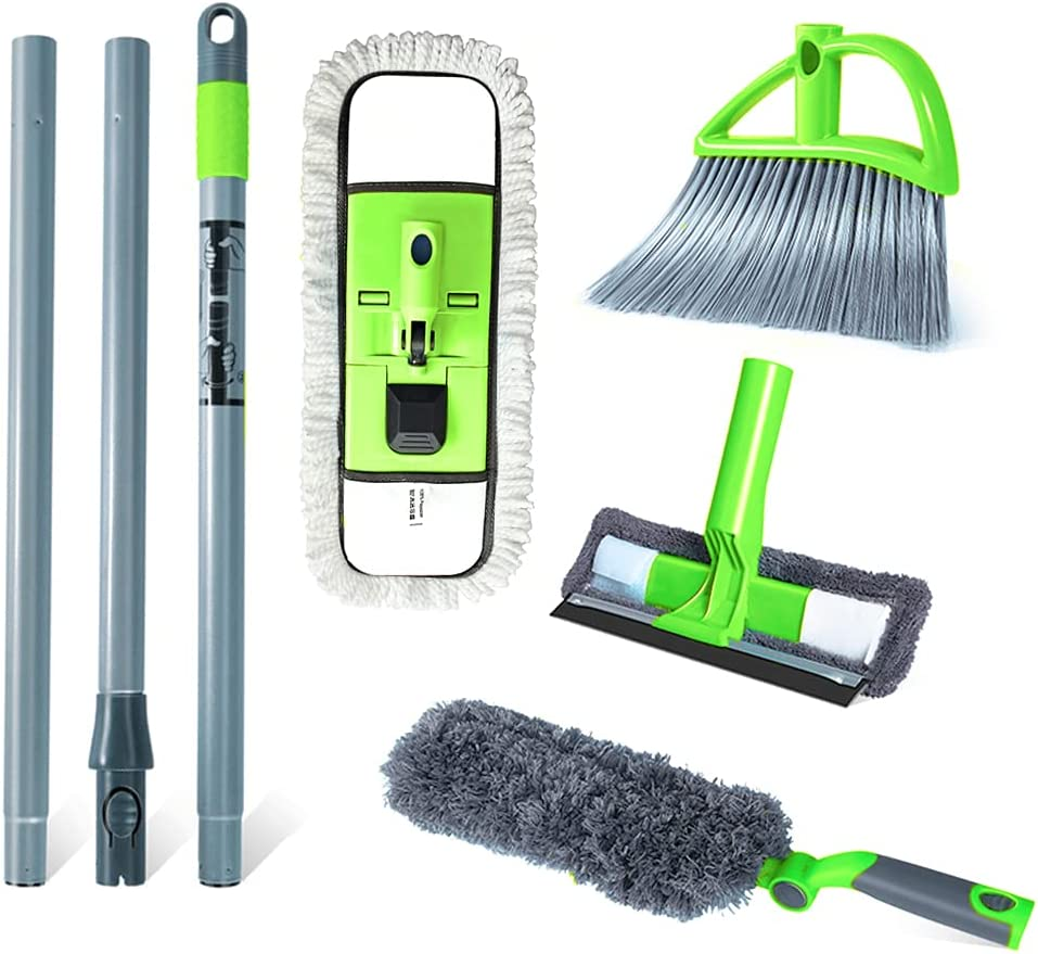 Guay Clean Home Cleaning Kit with Now free shipping 4 Includes: Mi Pole Ft Selling rankings Steel -
