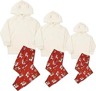 Christmas Family Matching Pajamas Set Fleece Sleepwear...