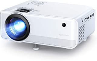 Mini Projector, APEMAN 4500 Lumen 1080P Supported Projector, 200'' Display 50000 Hrs LED Life, Dual Speakers Portable Proj...