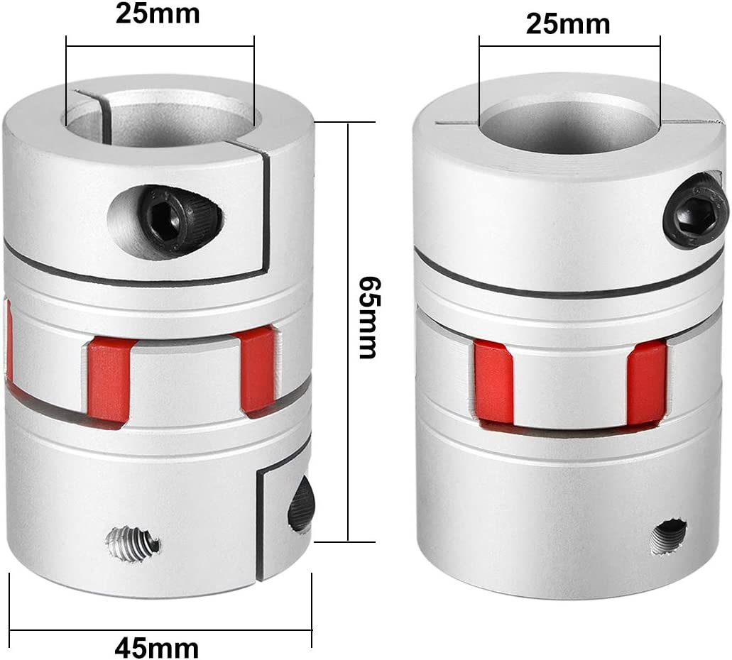 uxcell Schaft Kupplung Flexible Kupplung f/ür Servo-stufige Motor 1/Gelenk 16mm to 16mm L65xD45