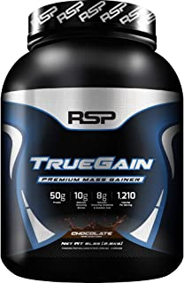 RSP NUTRITION TrueGain - Premium Mass Gainer Whey Protein, BCAAs, Gain Muscle, 6lb Chocolate