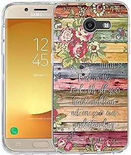 For Samsung Galaxy J7 V / J7 2017 / J7 Prime / J7 Perx / J7 Sky Pro / Galaxy Halo Case, TPU Rubber Soft Skin Silicone Protective Case Cover Proverbs 3:5