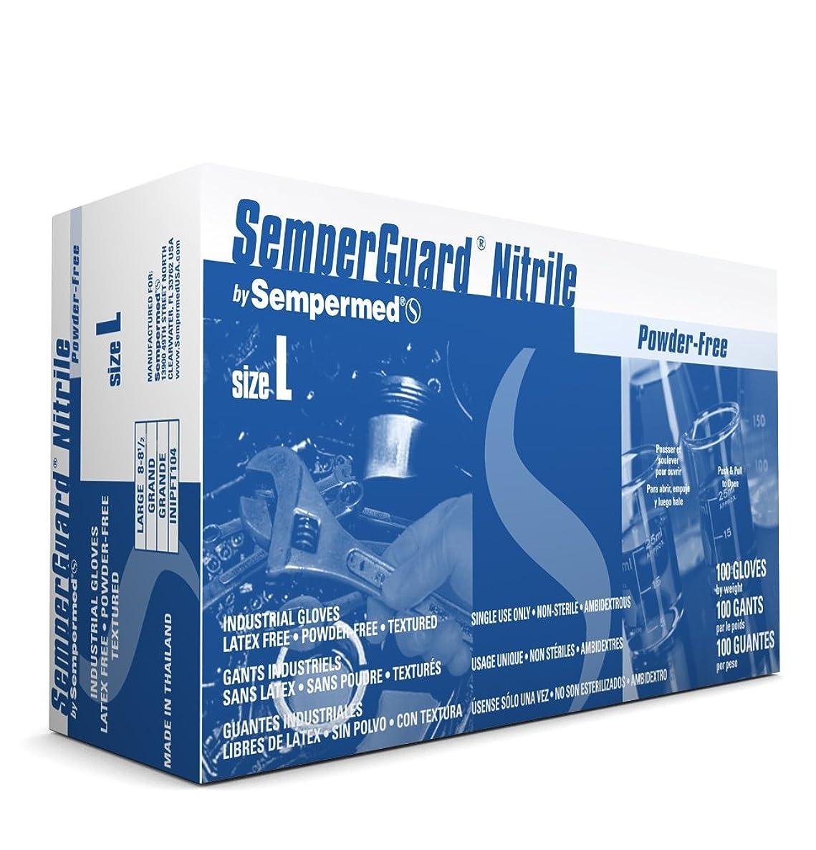 Sempermed SemperGuard Nitrile Powder Free Industrial Gloves, X-Large (10 Boxes: 1000 Case)