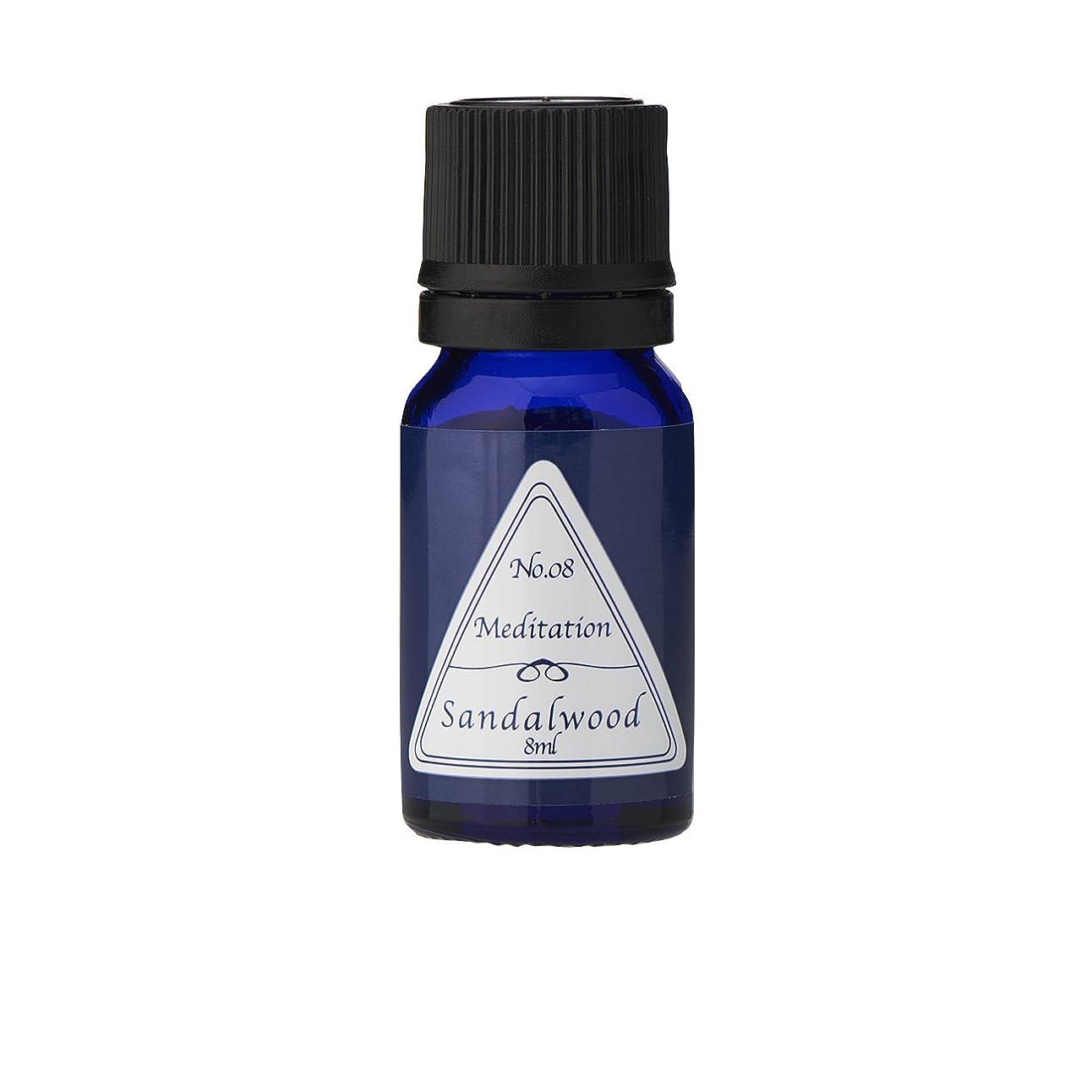 ピストルバインド悪性のブルーラベル アロマエッセンス8ml サンダルウッド(アロマオイル 調合香料 芳香用)