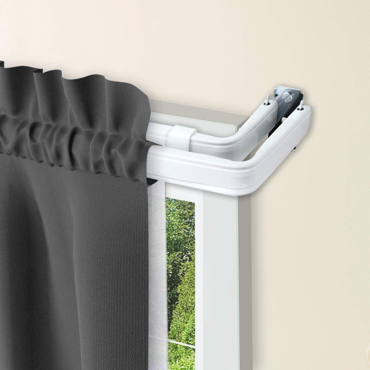 Rod Desyne Lockseam Double Curtain White inch Max 57% OFF 84-120 latest